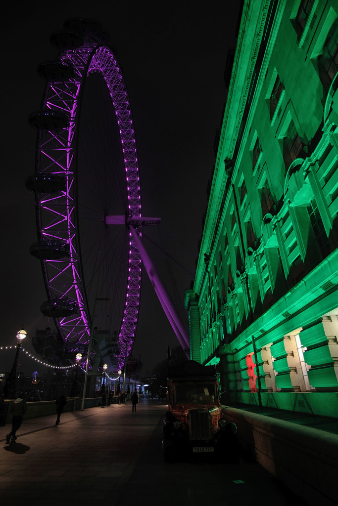 The London Eye and County Hall by rumpelstiltskin