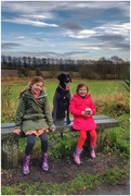 14th Dec 2020 - My granddaughters Grace and Sophia with Sadie on a weekend walk in the park