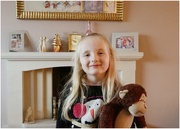 15th Dec 2020 - My granddaughter Abigail cuddling the monkey she has to look after over the weekend for school!