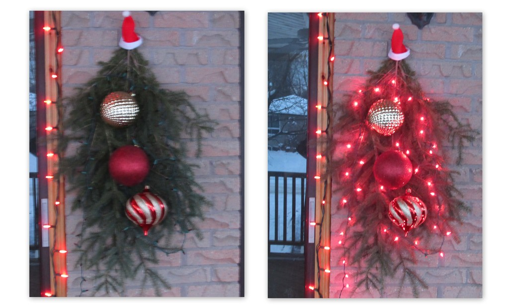 Christmas baubles by day or night  by bruni