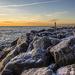 Winter Lake Sunrise by pdulis