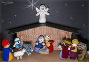 24th Dec 2020 - Knitted Nativity