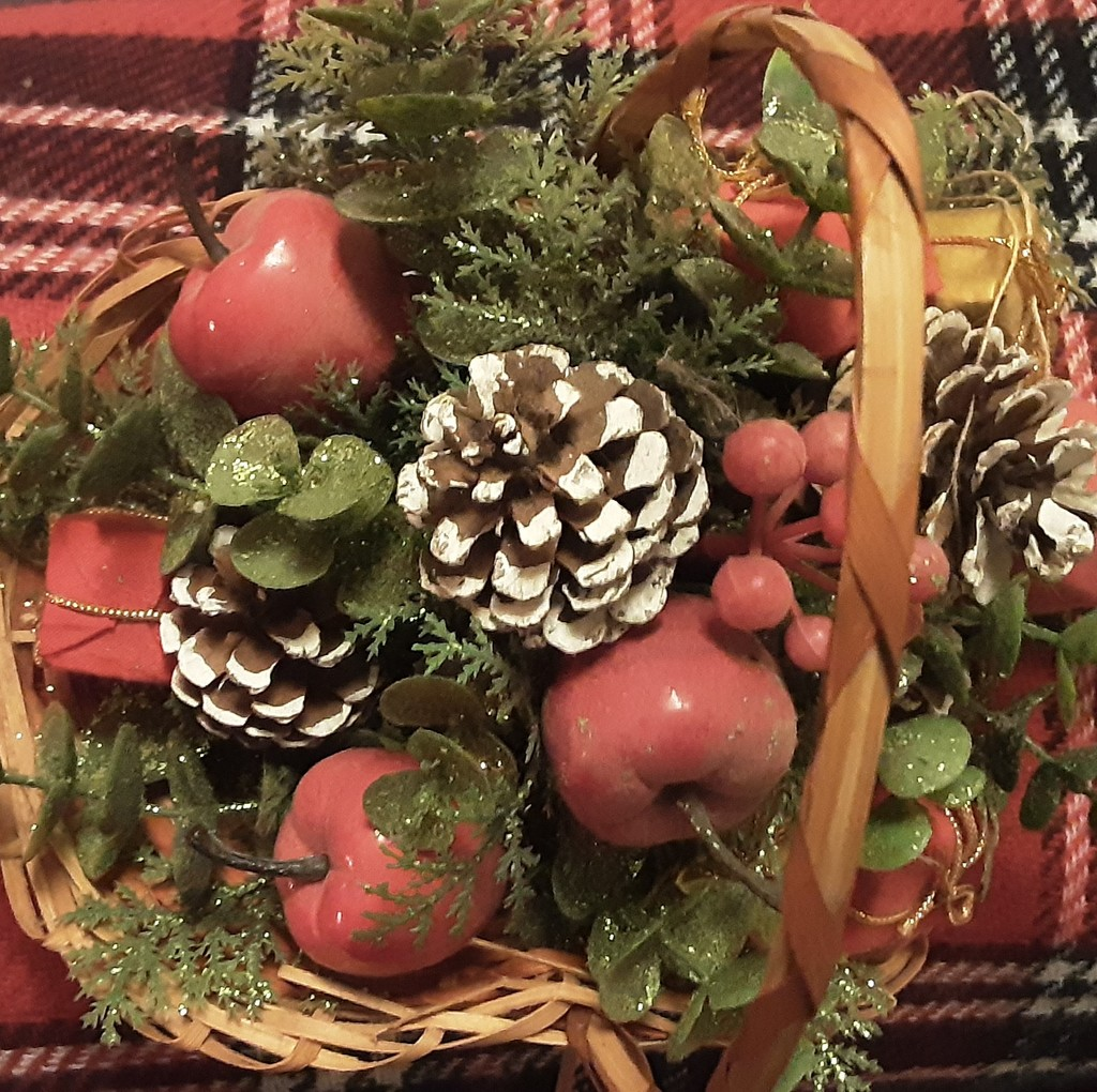 Pine cones and apples. A Christmas  decoration. by grace55