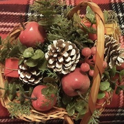 16th Dec 2020 - Pine cones and apples. A Christmas  decoration.