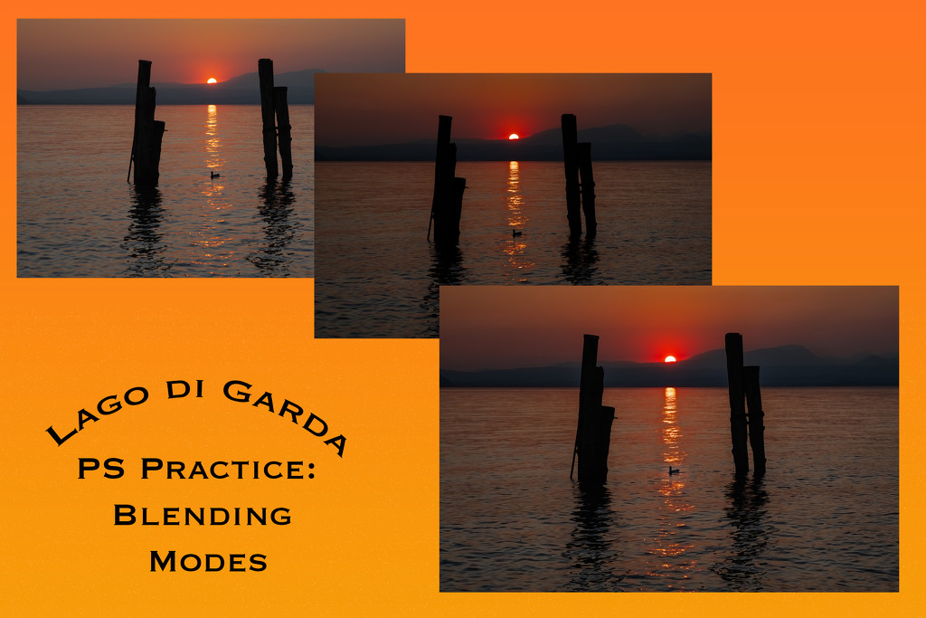 PS Blending Mode Practice:  Lago di Garda by jyokota