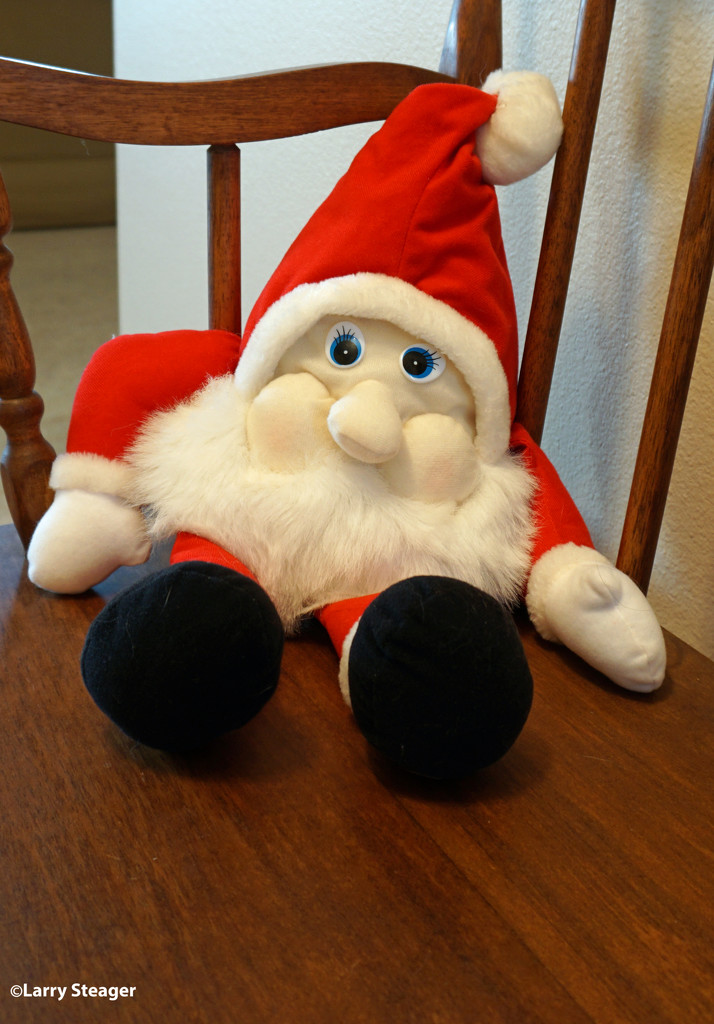 Santa who gards the front door by larrysphotos