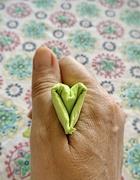 30th Dec 2020 - Green paper heart.