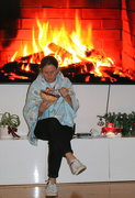 29th Dec 2020 - Supper by the fire!