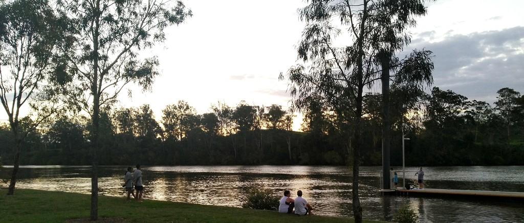 Summer evening on the Brisbane River by 777margo