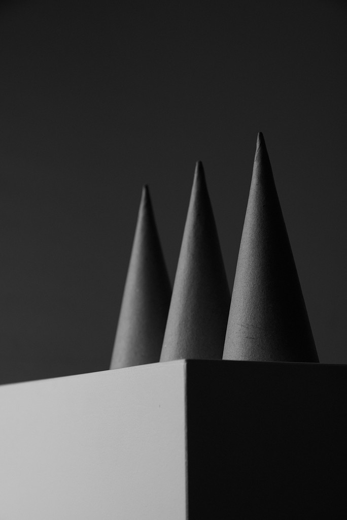 Still life cones on plinth by lookin_not_seeing