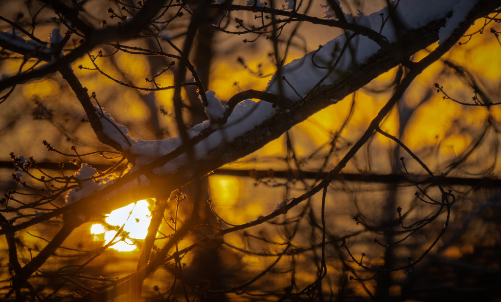 Sunset, first snow of the year by bmaddock