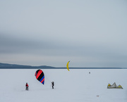 3rd Jan 2021 - Snowkiting on the Lake