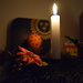 The first candle flame of Christmas Eve by kork