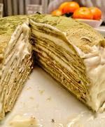 6th Jan 2021 - Matcha cream layered cake.