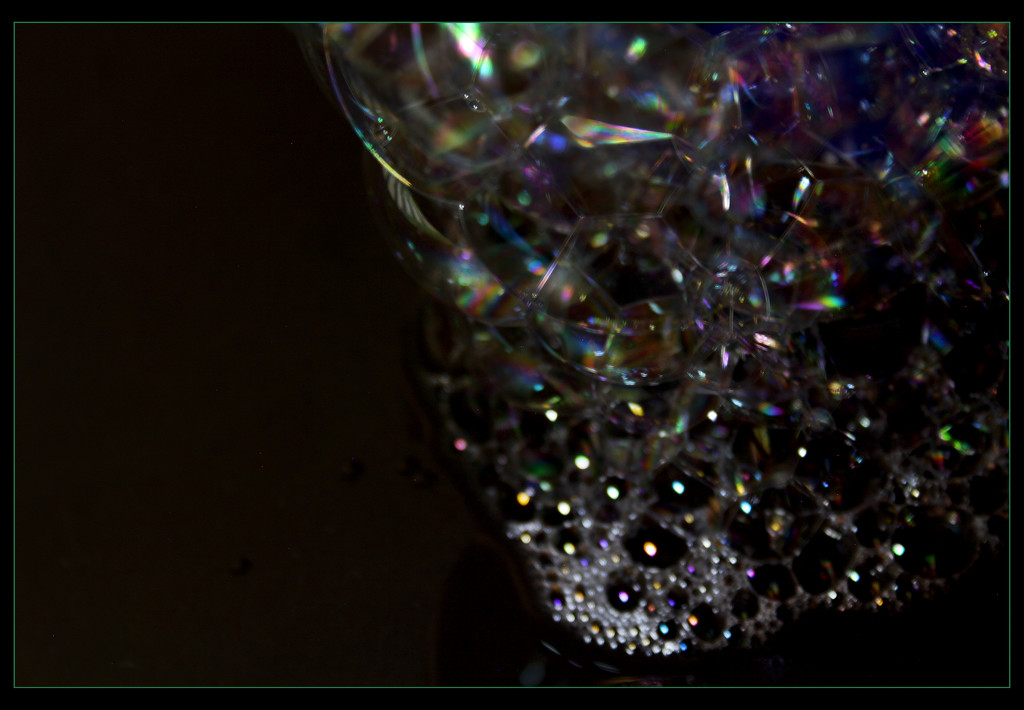 The colors of a rainbow in bubbles by sdutoit