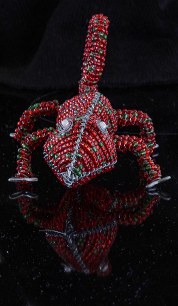 Beaded chameleon by maureenpp