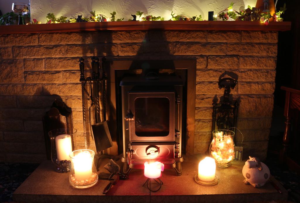 10th Jan Fireplace by valpetersen