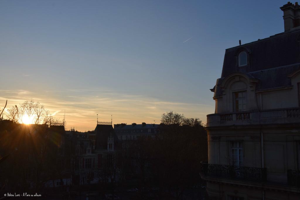 sunset over Paris  by parisouailleurs
