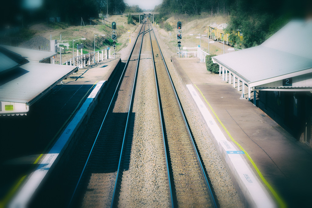 Branxton Station from the over bridge by annied