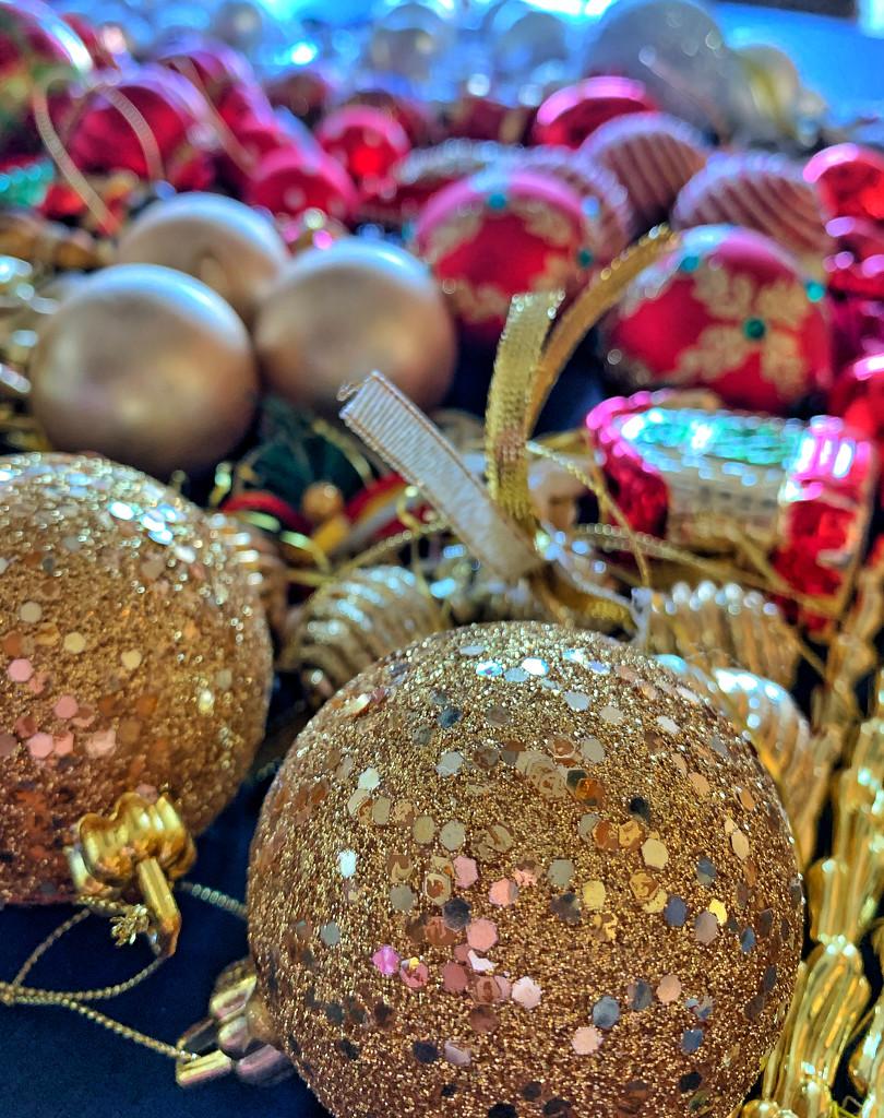 Gold ornaments.  by cocobella