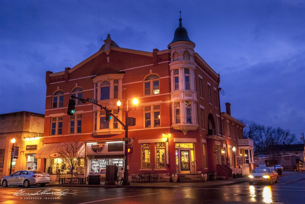 Old Holmes Hotel as Night Falls by ggshearron