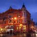 Old Holmes Hotel as Night Falls