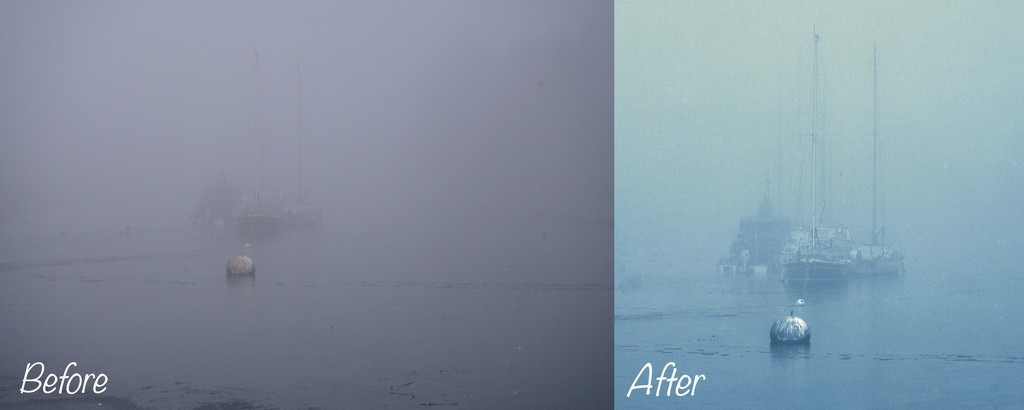 SHROUDED IN MIST - BEFORE /AFTER EDITING by markp