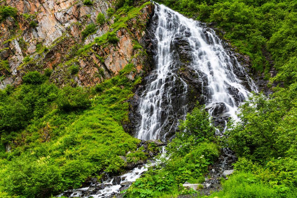 Waterfall Over the Rocks by photograndma