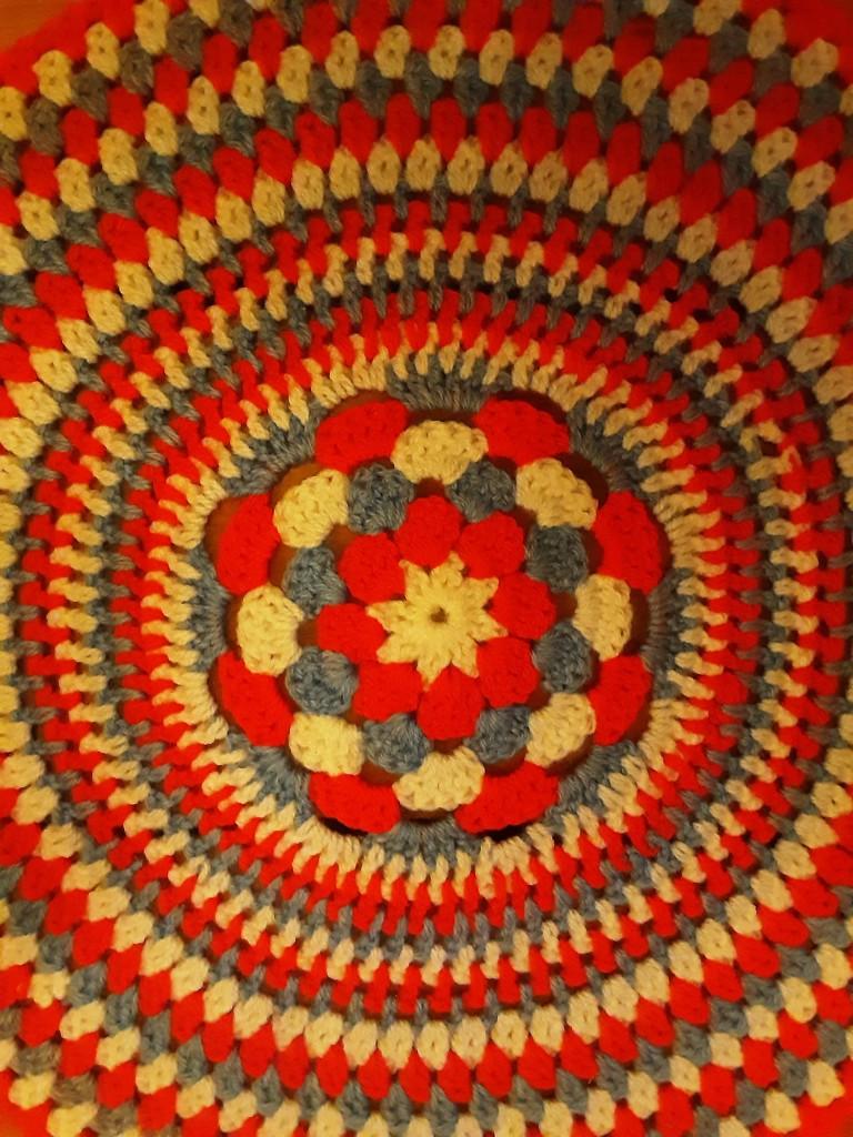 A crocheted mat. by grace55