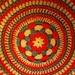 A crocheted mat.