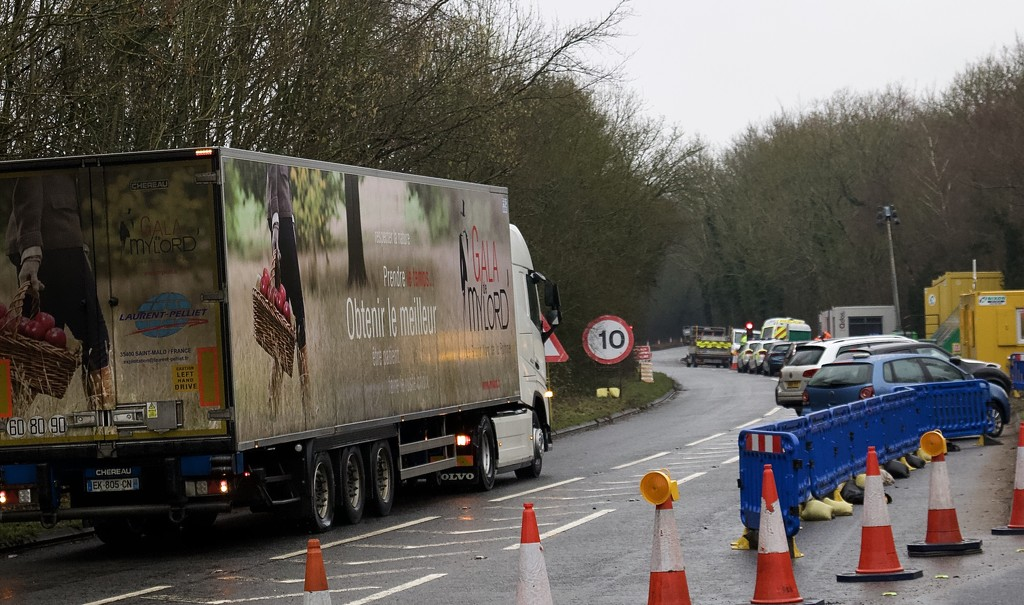 Brexit Road Block on A31 by jqf