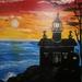 Christmas lighted lighthouse