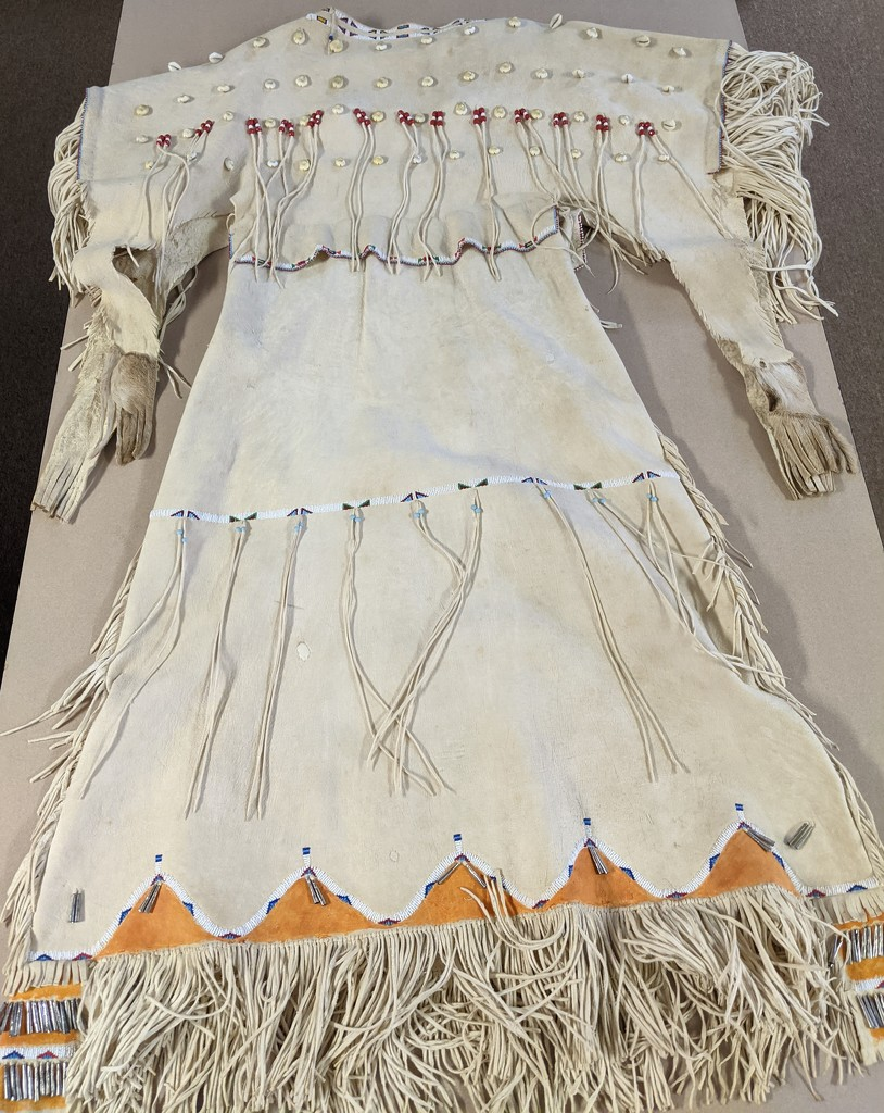 Buckskin Dress by prairiesmoke