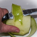 How to peel an apple....