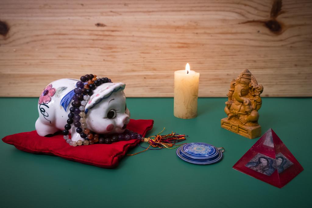 Miss Piggy Chants, Prays and Meditates for World Peace by mrslaloggie