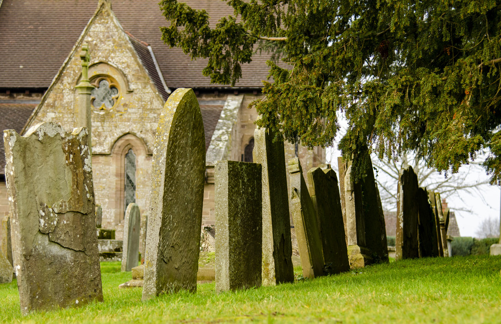 Crooked grave stones by clivee