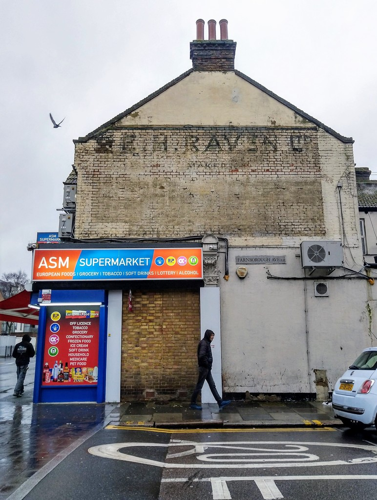 Ghost sign and seagull by boxplayer