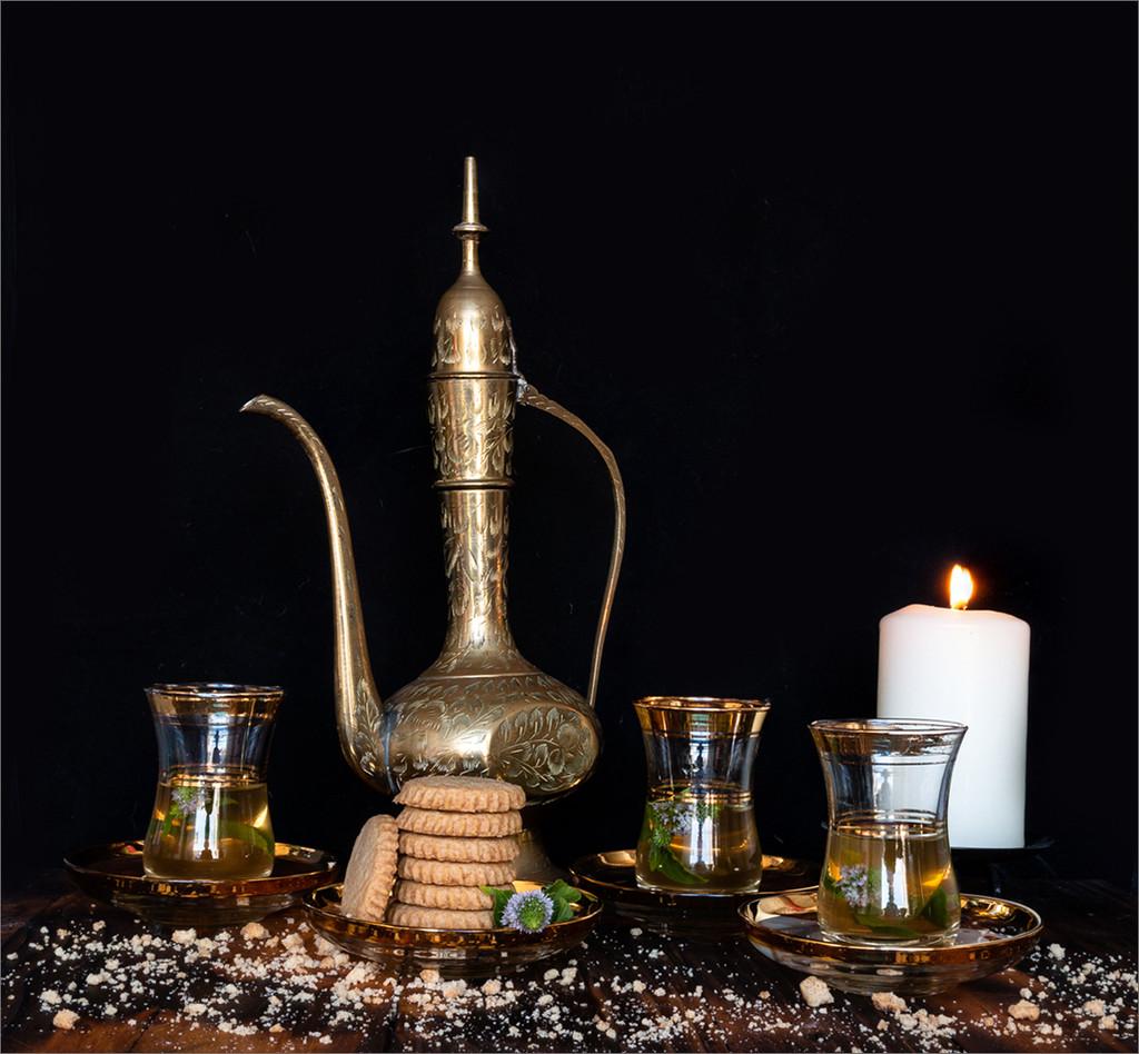 Turkish tea and biscuits by mv_wolfie