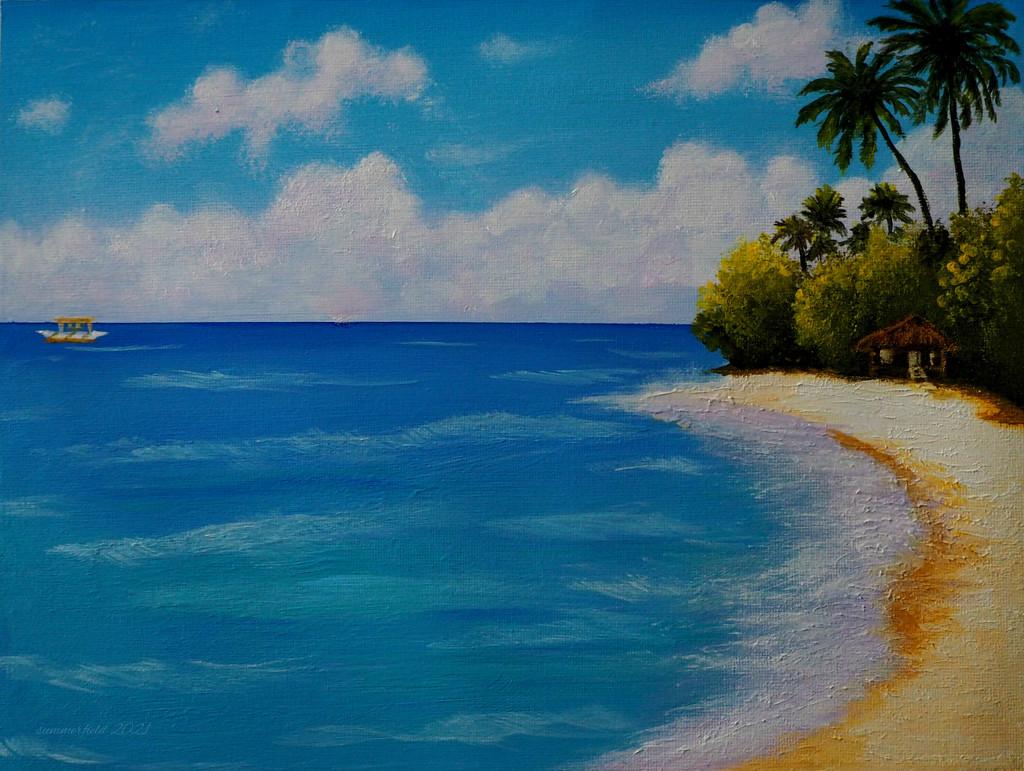 beach scene by summerfield