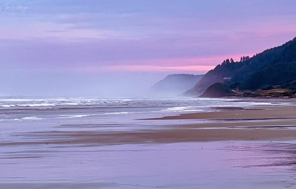 Foggy Ocean Dawn  by jgpittenger