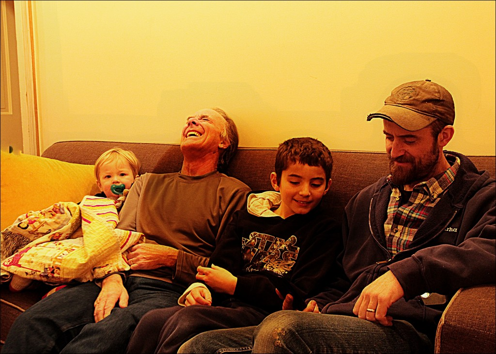 Three Generations on One Couch by olivetreeann