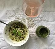 22nd Jan 2021 - Homemade basil pesto - dinner is served