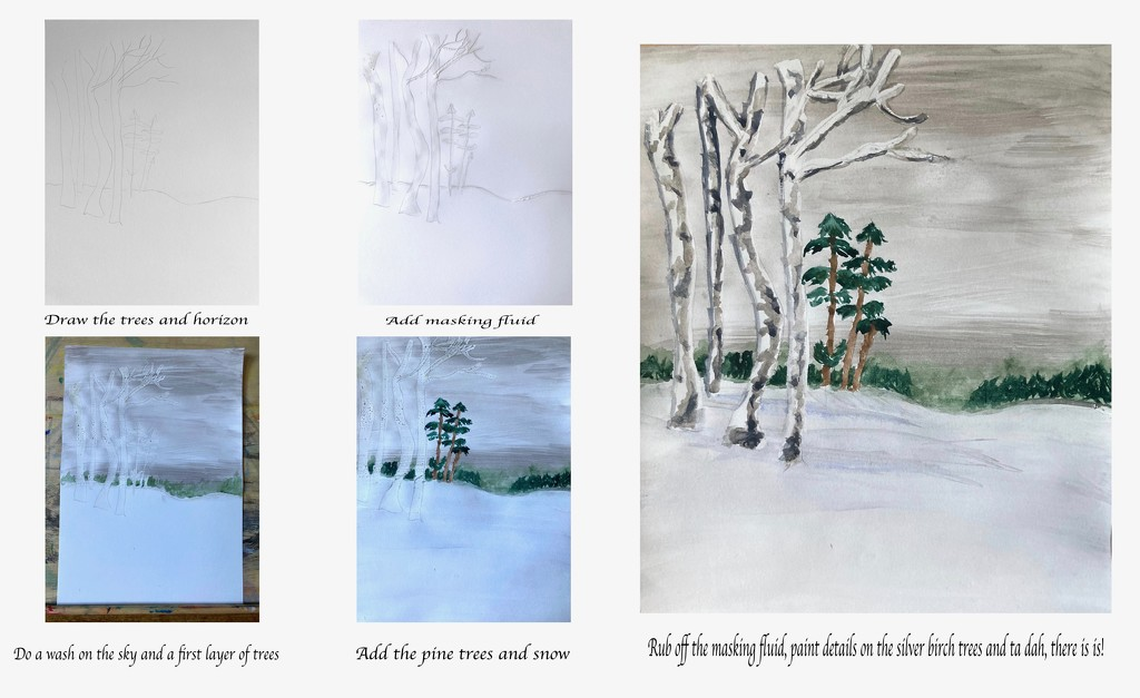 Winter Landscape First Attempt by casablanca
