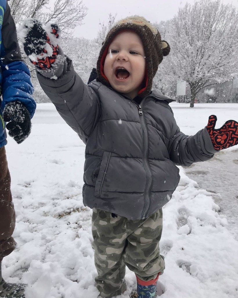 Gage's first snow!  by louannwarren