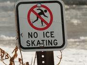 23rd Jan 2021 - no ice skating sign