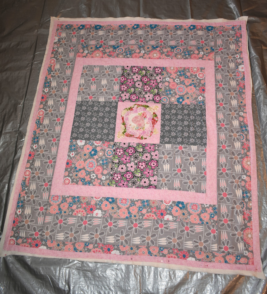 Baby quilt back by homeschoolmom
