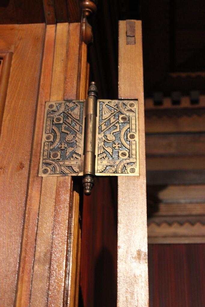 Doors #2: Ornate Hinge, Glanmore House by spanishliz