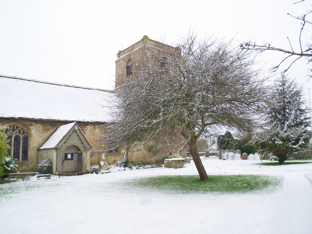 St Mary's in the snow 02 by jon_lip