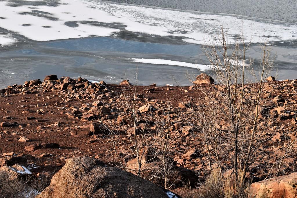Rocks at the lake by sandlily