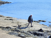 25th Jan 2021 - A Man And His Dog On The(ir) Beach